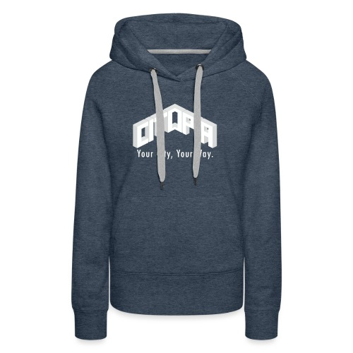 Logo with Slogan - Women's Premium Hoodie