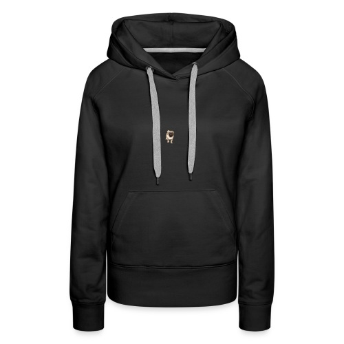 Mops-logo - Frauen Premium Hoodie