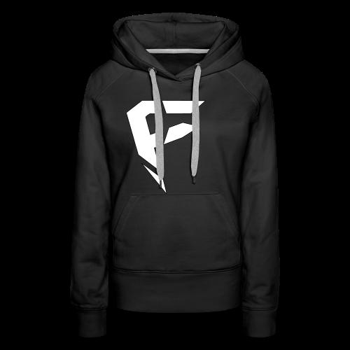 F Logo in Weiß - Frauen Premium Hoodie