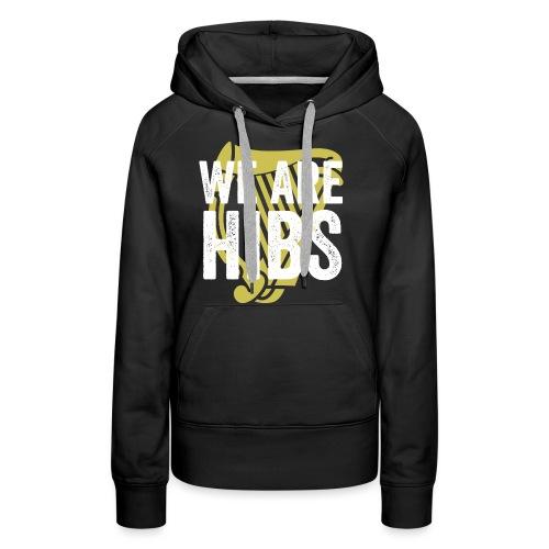 WEAREHIBS WhiteWithGoldHarp - Women's Premium Hoodie