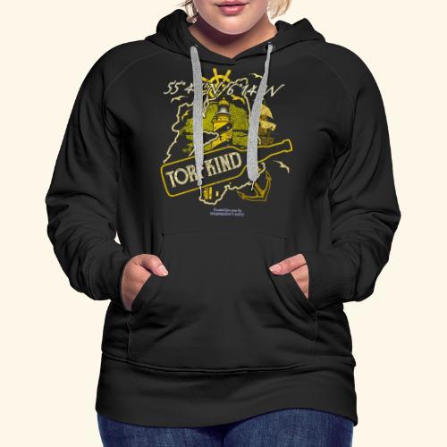 Whisky T Shirt Design Islay Single Malt Peat Torf - Frauen Premium Hoodie