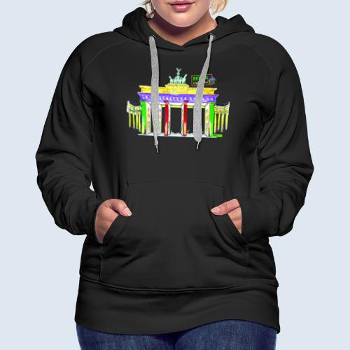 """Berliner """"Brandenburger Tor"""" PopArt BLS Design - Frauen Premium Hoodie"""