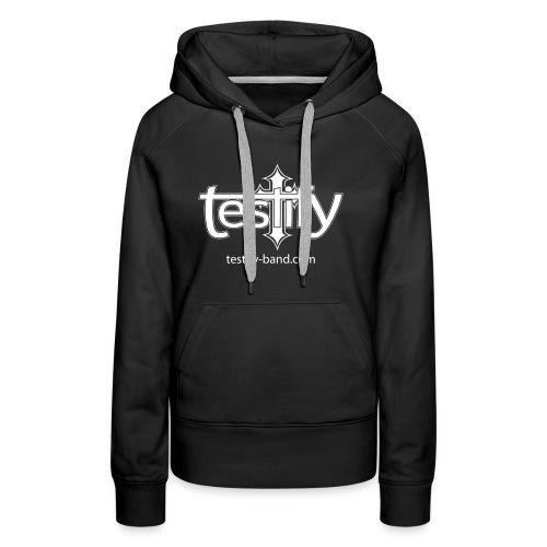 Testify logo med url - Premium hettegenser for kvinner