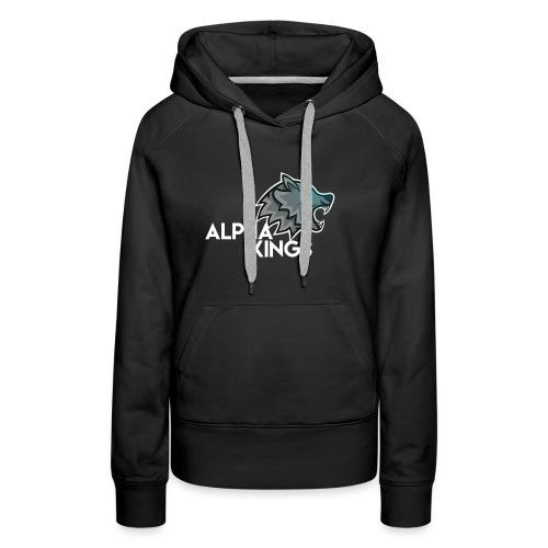 logo Alpha Kings white - Sweat-shirt à capuche Premium pour femmes