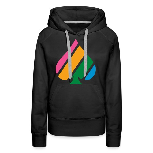 Colored Stripes Logo - Women's Premium Hoodie