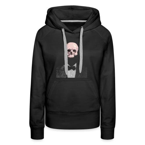 Elegant Skull - Felpa con cappuccio premium da donna