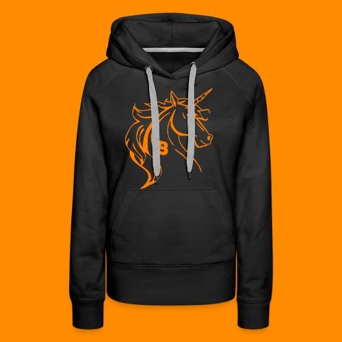 orange biodusty unicorn shirt - Vrouwen Premium hoodie