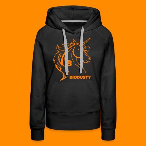 BIODUSTY UNICORN VROUWENSHIRT - Vrouwen Premium hoodie