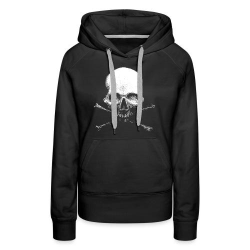 Old Skull - Felpa con cappuccio premium da donna