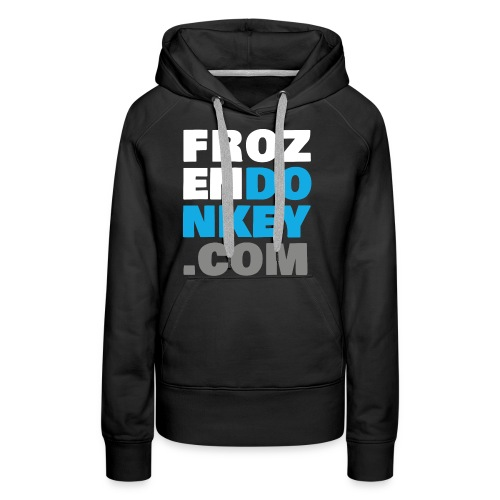 FrozenDonkey Back URL 2 - Frauen Premium Hoodie