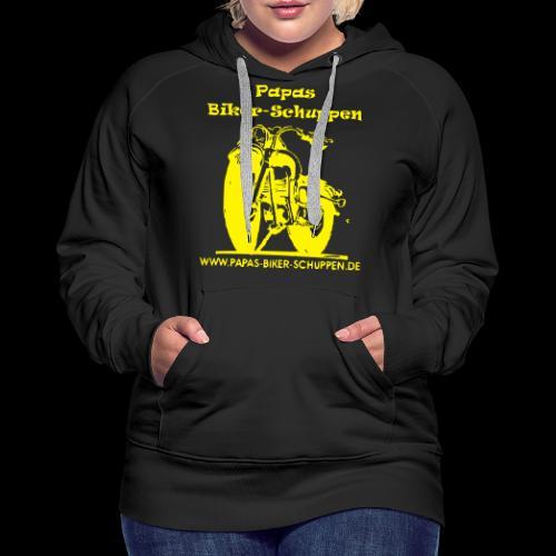 Papas Biker-Schuppen Logo Gelb - Frauen Premium Hoodie