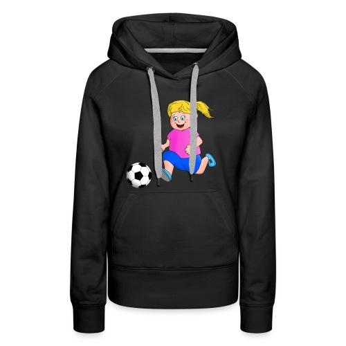 Fußball Mädchen - Frauen Premium Hoodie