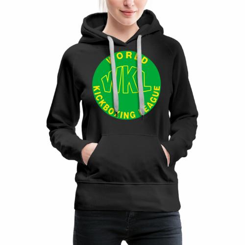 WKL GREEN - Sudadera con capucha premium para mujer