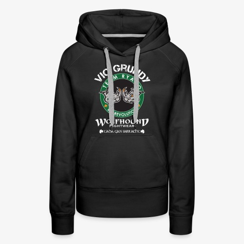 vic grundy back white png - Women's Premium Hoodie