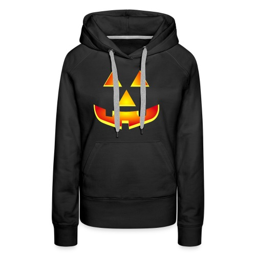 Smiling pumpkin - T Shirt, Halloween, Scary Face - Women's Premium Hoodie