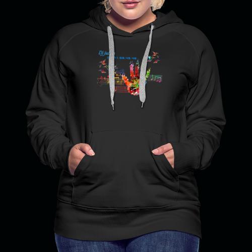 djjulien - Sweat-shirt à capuche Premium pour femmes