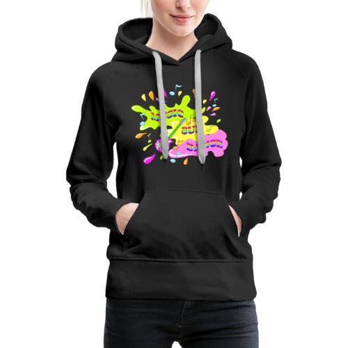 MUSIC RAINBOW colorcontest - Sweat-shirt à capuche Premium pour femmes