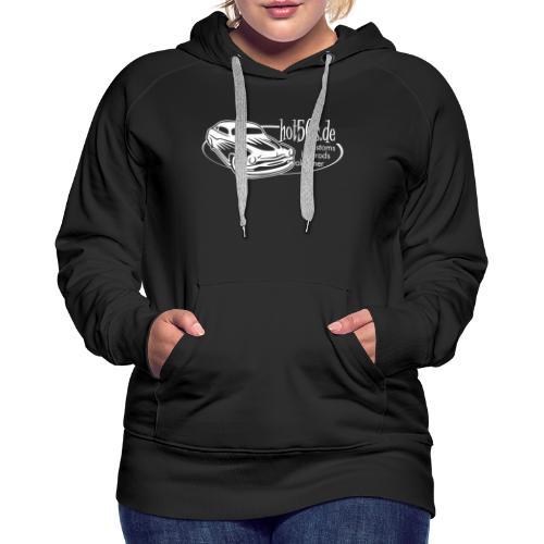 hot50s Logo weiss - Frauen Premium Hoodie