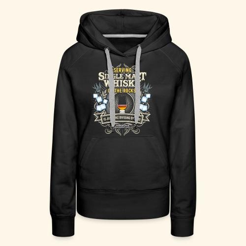 Whisky T Shirt Single Malt on the Rocks - Frauen Premium Hoodie