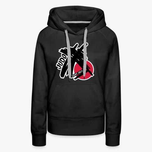 Logo Judo St gély - Sweat-shirt à capuche Premium pour femmes