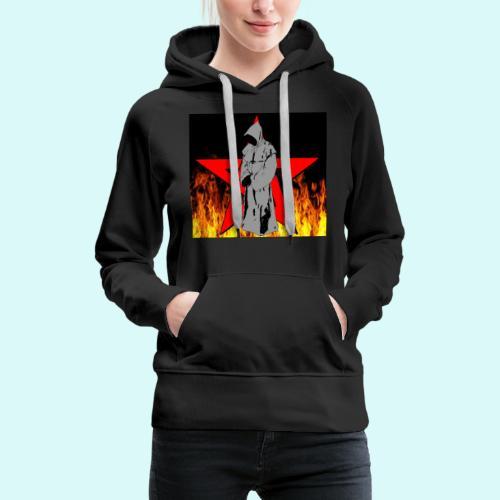 moine et pentagramme - Sweat-shirt à capuche Premium pour femmes