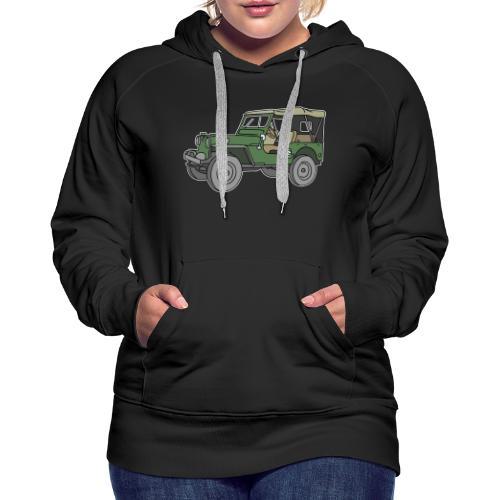 Grüner Geländewagen SUV - Frauen Premium Hoodie