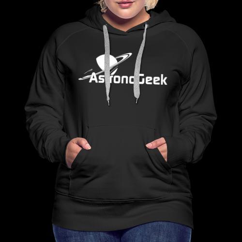 Logo AstronoGeek avec texte - Sweat-shirt à capuche Premium pour femmes