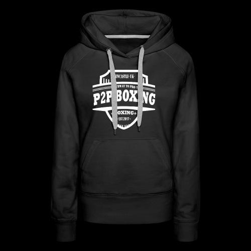P2P Boxing White Logo - Women's Premium Hoodie