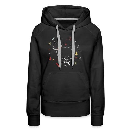 WINTER DOG COLLECTION - Sweat-shirt à capuche Premium pour femmes
