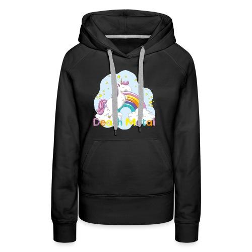 unicorn death metal - Vrouwen Premium hoodie