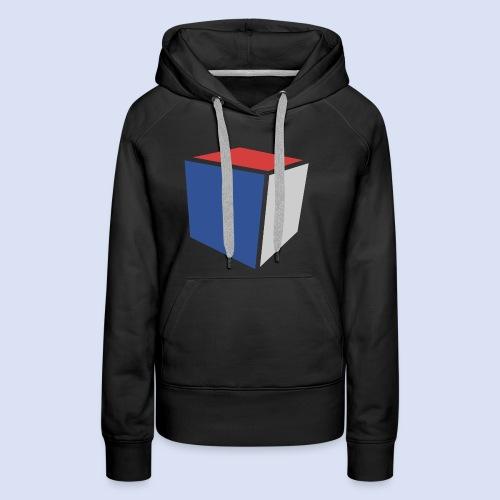 Cube Minimaliste - Sweat-shirt à capuche Premium pour femmes