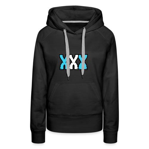 XXX (Blue + White) - Women's Premium Hoodie