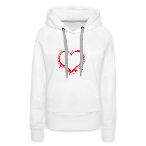 heart 2402086 - Felpa con cappuccio premium da donna