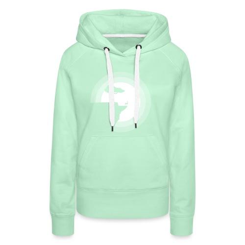 La pleine lune - Sweat-shirt à capuche Premium pour femmes