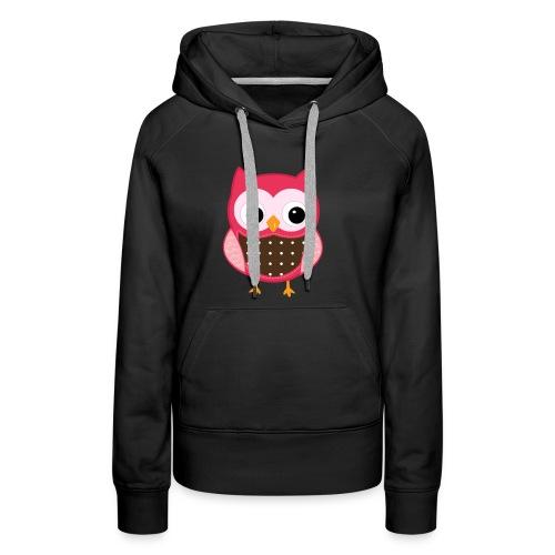 little pink owl - Women's Premium Hoodie