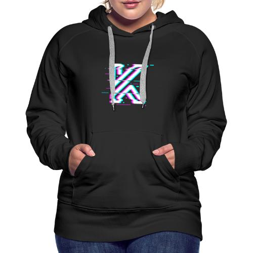 Glitch - Sweat-shirt à capuche Premium pour femmes