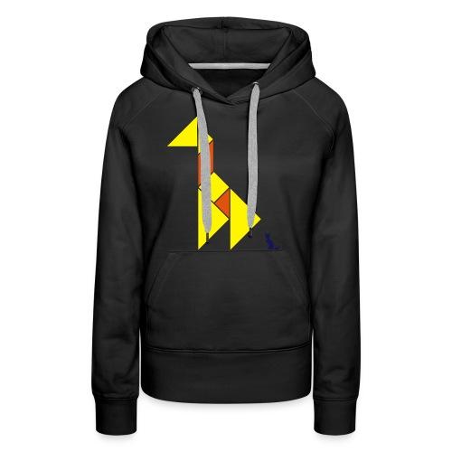 En mode tangram - Giraffe - Sweat-shirt à capuche Premium pour femmes