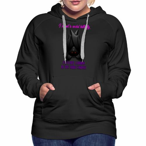 Bat Lurking in the Corner - Women's Premium Hoodie