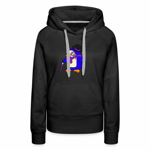 Cute Posh Purple Violet Penguin - Women's Premium Hoodie
