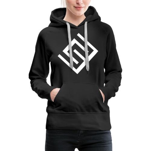 CW logo vit - Premiumluvtröja dam