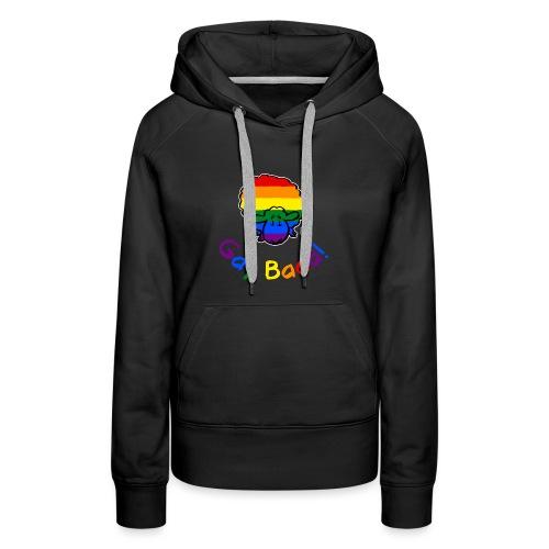 Gay Baaa! Pride Sheep (texte arc-en-ciel édition noire) - Sweat-shirt à capuche Premium pour femmes