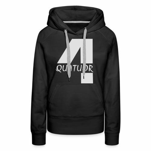 Quatuor - Sweat-shirt à capuche Premium pour femmes