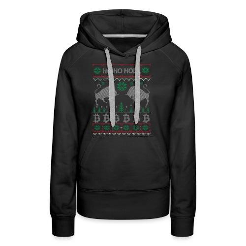 Ugly Christmas Bitcoin Pullover T-Shirt - Frauen Premium Hoodie
