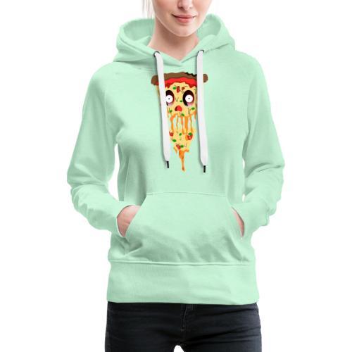 Schockierte Horror Pizza - Frauen Premium Hoodie