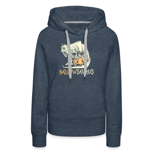 HallowSaurus T-Shirt - Felpa con cappuccio premium da donna