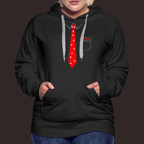 Geek | Schlips Krawatte Wissenschaft Streber - Frauen Premium Hoodie