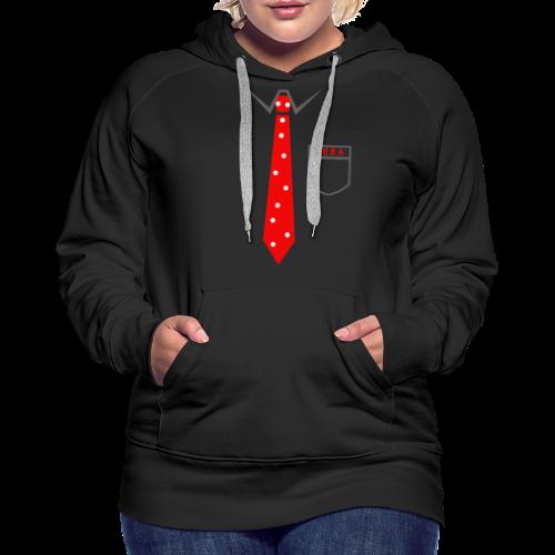 Geek   Schlips Krawatte Wissenschaft Streber - Frauen Premium Hoodie