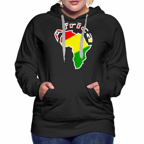 Afrika - rot gold grün - Frauen Premium Hoodie