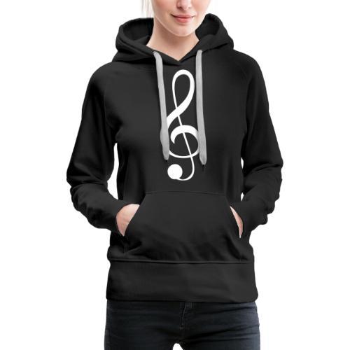 Musik Symbol Violinschlüssel Notenschlüssel - Frauen Premium Hoodie