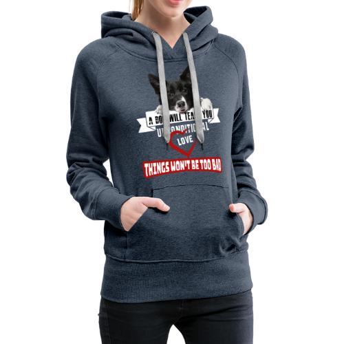 Border Colli Bedingungslose Liebe - Frauen Premium Hoodie